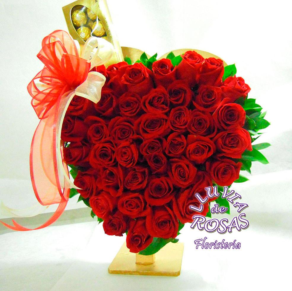Corazón con chocolates Ferrero